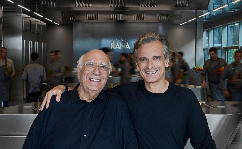 Gian Luca Rana e il padre Giovanni Rana